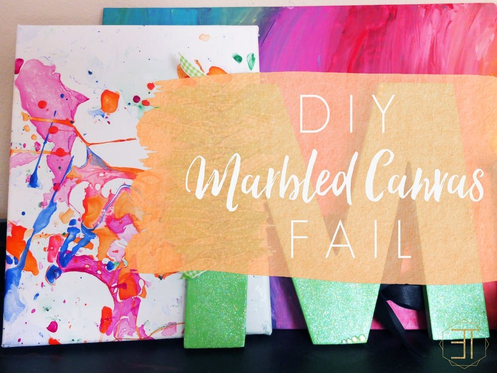 A how to on marbled canvas using nailpolish that ends up being a complete fail for a D.I.Y.