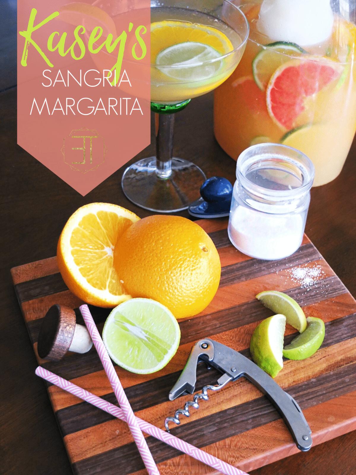 A summer cocktail recipe for Margarita Sangria. // www.ElleTalk.com