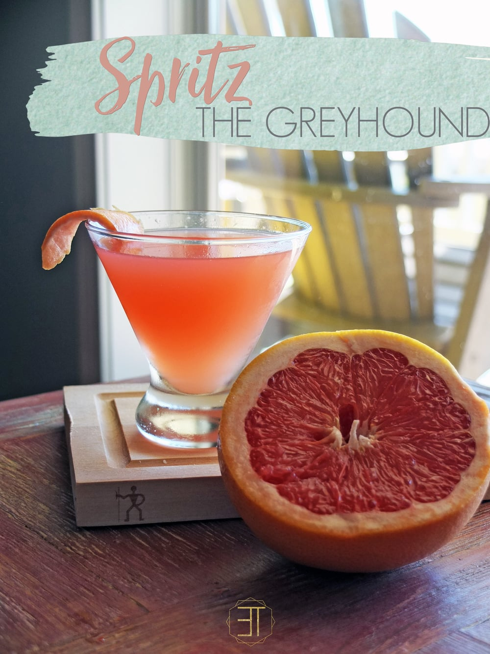 Spritz The Greyhound a summer and spring drink/cocktail recipe including grapefruit & gin with a bubbley twist. // www.ElleTalk.com