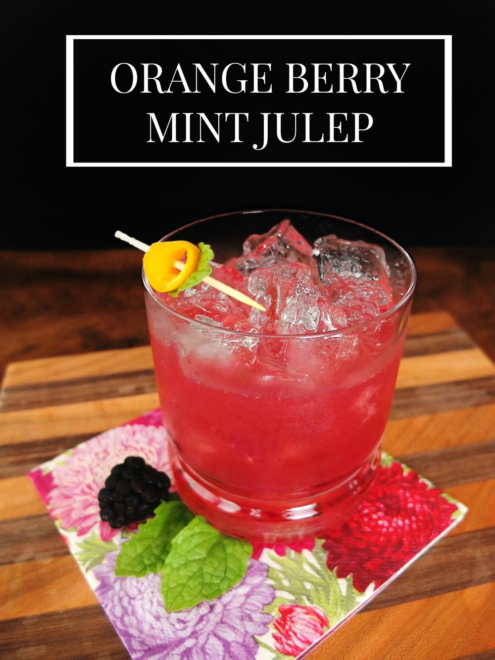 In this easy and flavorful spin a Mint Julep I share a little of the history associated with the classic bourbon cocktail. // www.ElleTalk.com
