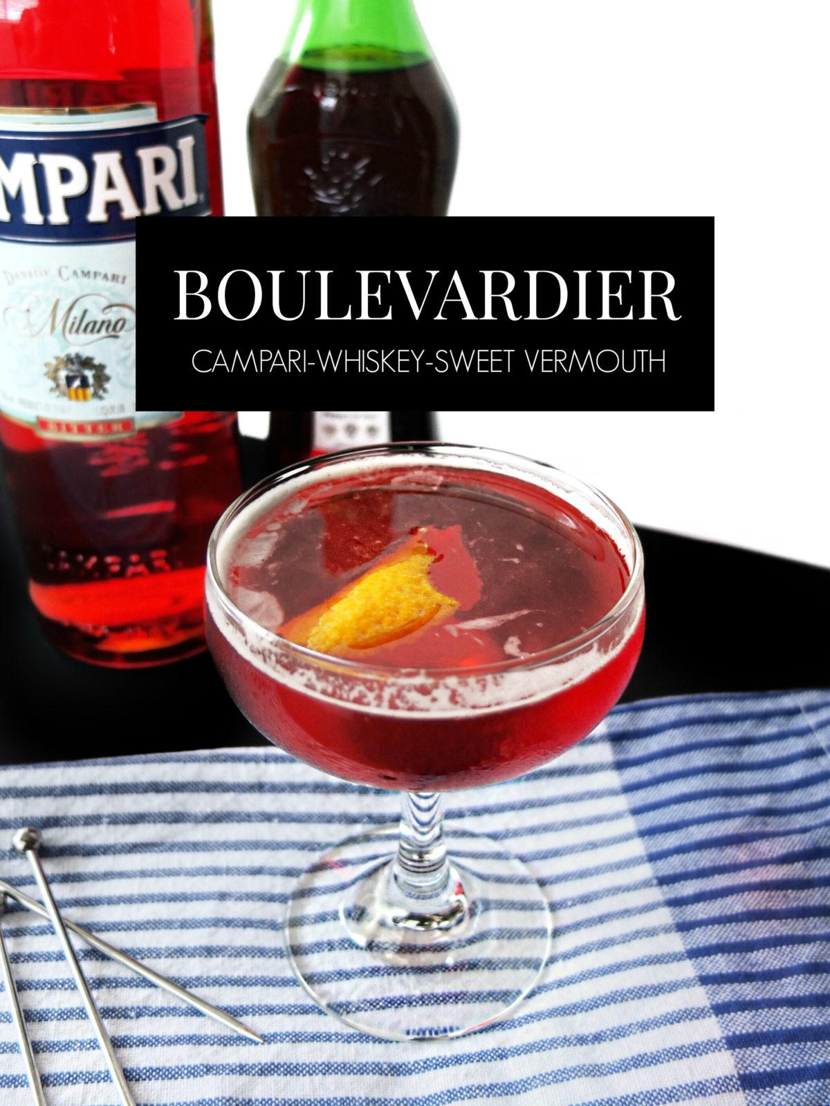 How To Make The Perfect Boulevardier, a classic Campari and Whiskey cocktail.