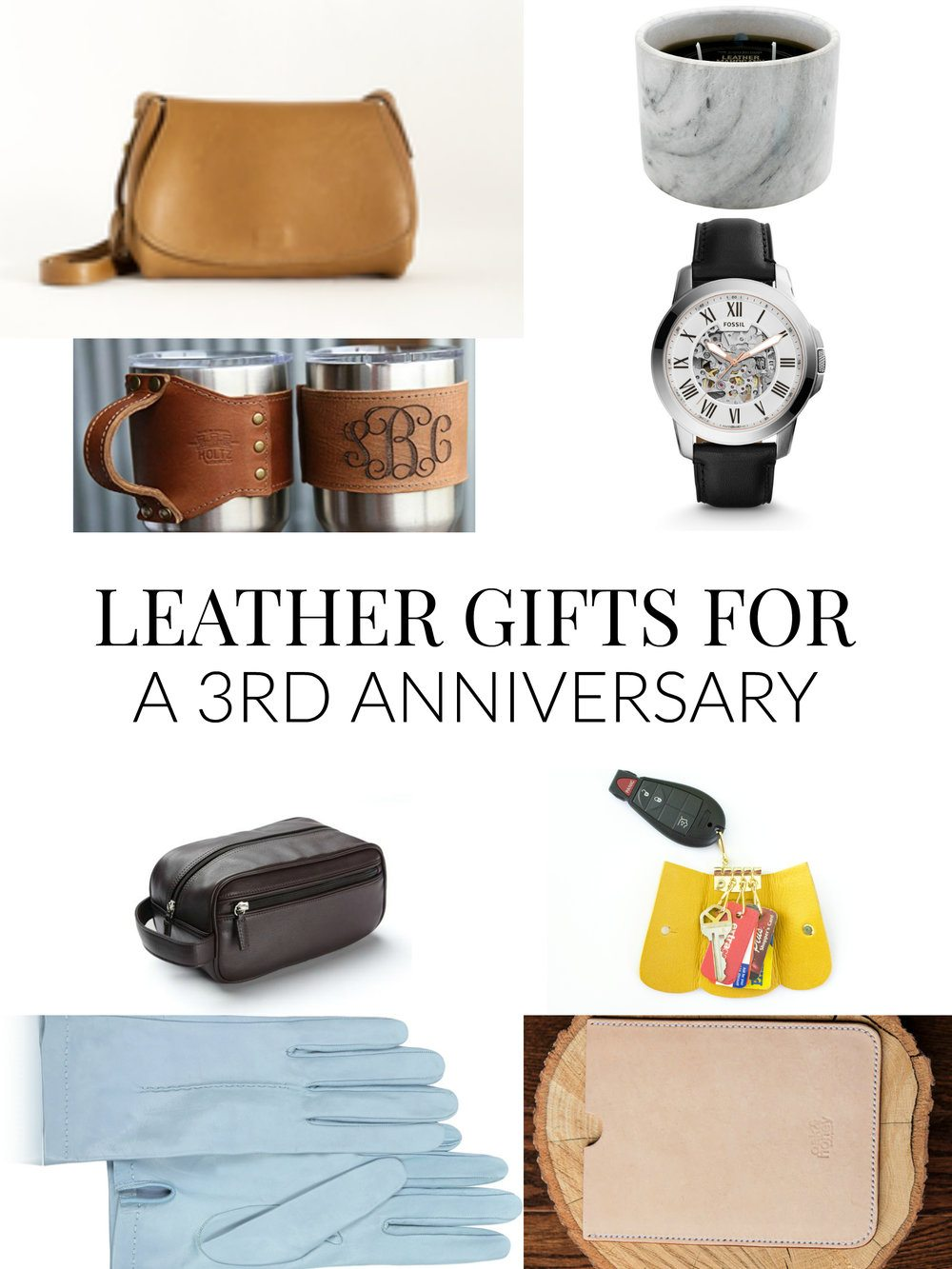 A roundup of leather gift for a 3rd Anniversary and includes leather gifts for her, leather gifts for him, and leather gifts for both. // www.ElleTalk.com