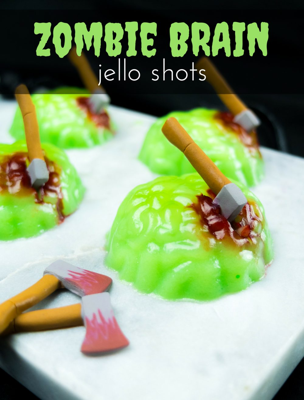 Zombie Brain Jello Shots | Elle Talk