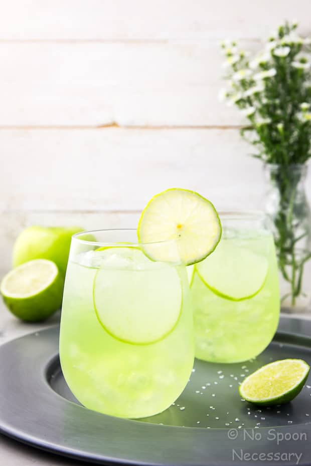 10 of the Best St. Patrick's Day Recipes - The Lucky Shamrock Sour Apple Tequila by No Spoon Necessary