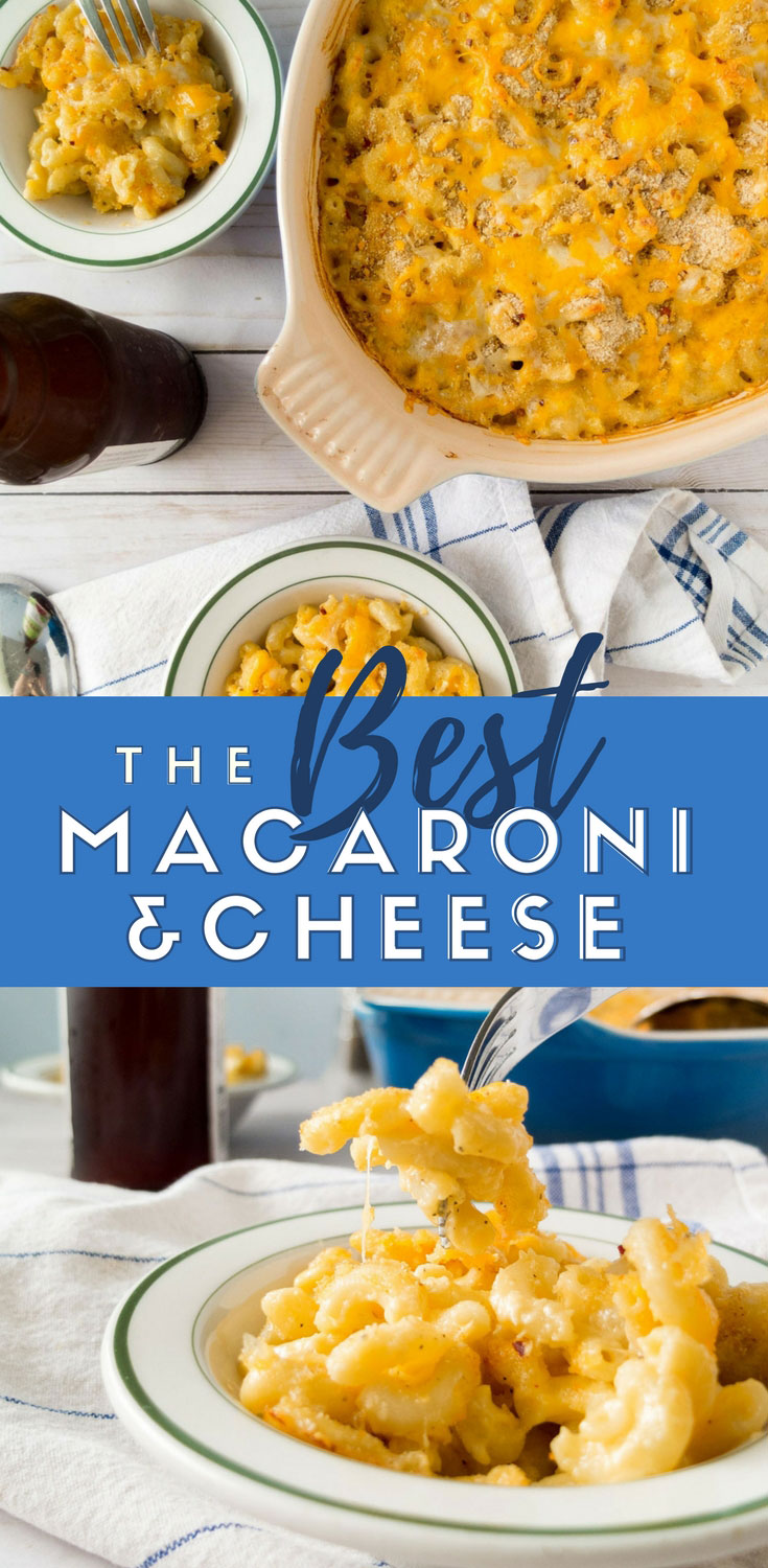 This is the best baked macaroni and cheese recipe but if you're not a fan of baked macaroni, you can leave out the baking option! Easy mac and cheese recipe that's an easy dinner recipe or side for a holiday recipe. This is one of our go to carb meals before a race. #pasta #recipeoftheday #cheese #dinner