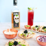 We're pairing the classic tequila cocktail El Diablo with these slow cooker Blackberry & Ginger Tacos. The El Diablo cocktail is a black current and ginger beer drink that's easy to sip. Have it along side these chicken tacos made in a blackberry and ginger sauce makes for the ultimate pairing of a little spicy, sweet, and salty. Recipe for those 21+. #slowcooker #recipeoftheday #tequila #cocktail #cocktailrecipe #foodpairing #dinner #dinnerrecipe #taco #tacotuesday #tacoparty #makeitexotico #sponsored
