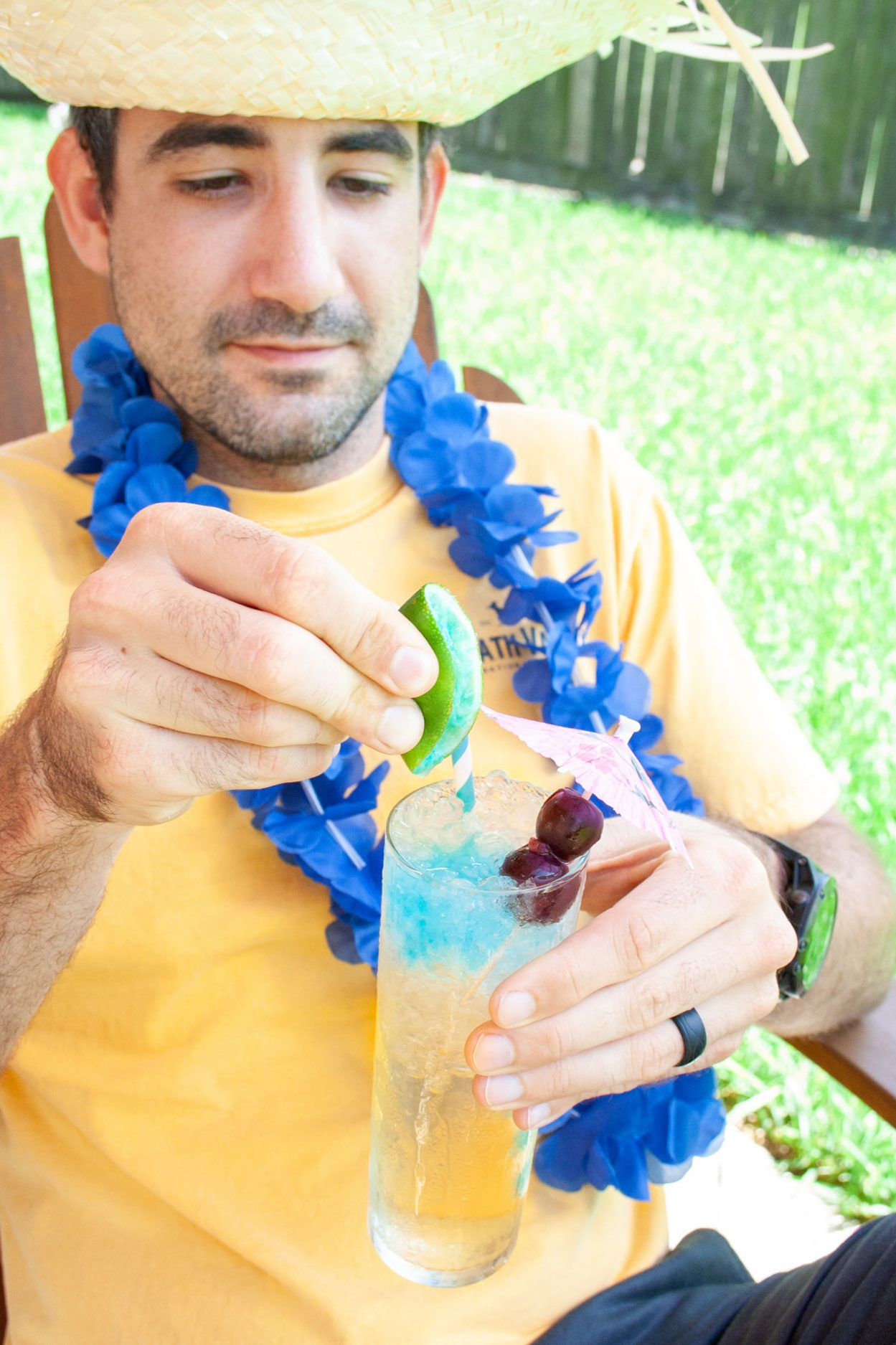 Master your next luau party with these fun rum tiki cocktails, Pink Hawaiian and the Pool Boy. The Pink Hawaiian is a pink cocktail with Master of Mixes Strawberry Colada Mix and white rum. The Pool Boy is a dark rum and absinthe cocktail mixed with Master of Mixes White Sangria! Elle Talk| #ad #MasterofMixes #MasterYourSummer #cocktail #cocktailrecipe #summer #luau #luauparty #tiki #tikicocktail #rum