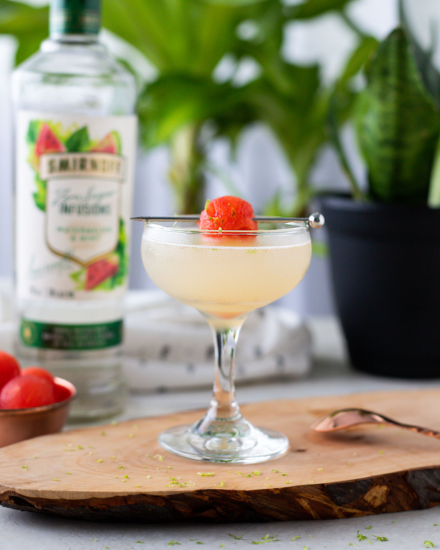 Classic Kamikaze cocktail that uses watermelon and mint vodka for a refreshing summer spin on this sweet vodka martini. Uses Smirnoff Zero Sugar Infusion Vodka. #Smirnoff #SummerDrinks #CocktailRecipe #VodkaDrink #VodkaCocktail #MartiniRecipe #Kamikaze #DrinkRecipe