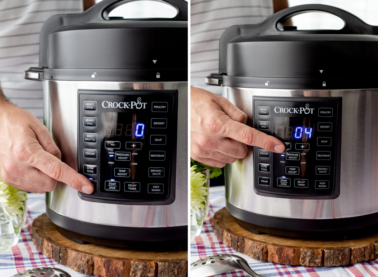 This Crock-Pot® Express Pressure Cooker 6QT Clambake makes for a delicious seafood dinner recipe that's perfect for summer entertaining but easy enough for weeknight cooking. #sponsored #ElleTalk #MyCrockPotSummer #CrockPotRecipes #PressureCooker #ClamBake #DinnerRecipe #EasyDinnerRecipe #ClamRecipe