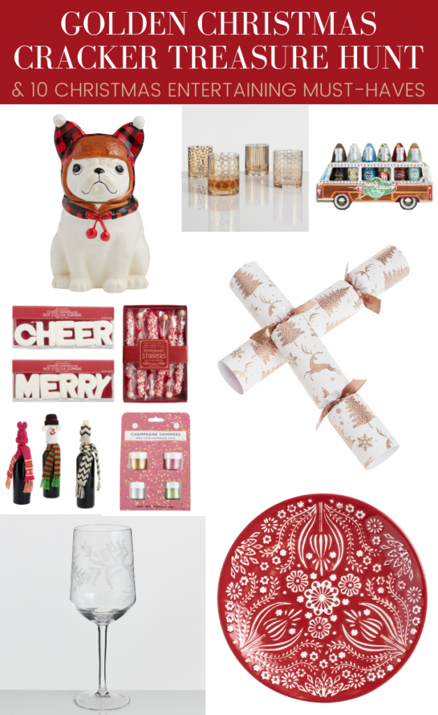 Looking for Holiday Entertaining supplies? I've got you covered with 10 Christmas Entertaining Must Haves with @WorldMarket. Plus we're sharing how you can participate in this year's Golden Christmas Cracker Treasure Hunt to help you possibly fill your bar cart and entertaining needs! Learn about the treasure hunt & must-haves here. #ad #WorldMarket #HolidayEntertaining #HolidayDecor