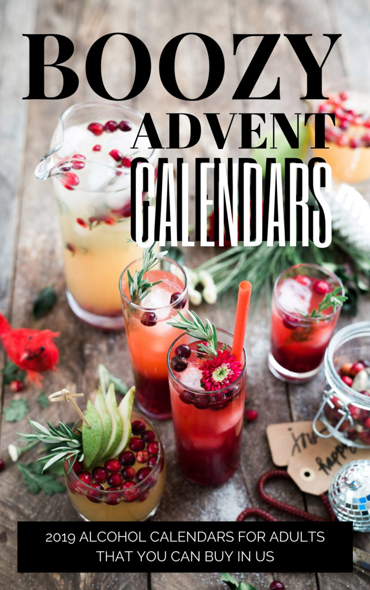 8 Boozy Advent Calendars that you can find in the United States. These alcohol advent calendars are the perfect Holiday gift this season.
